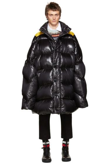 Raf Simons - Black Down Oversized Coat