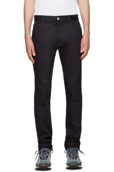 Raf Simons - Navy Patch Jeans