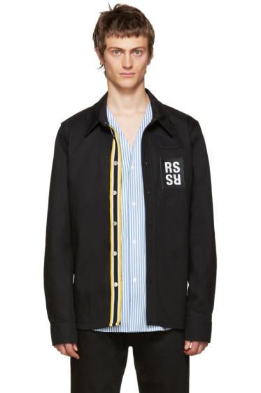 Raf Simons - Black Denim Patch Shirt