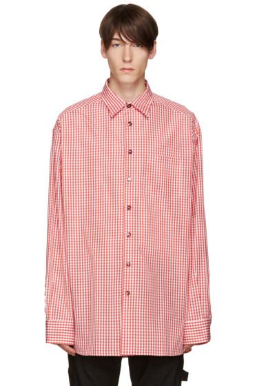 Raf Simons - Red & White Oversized Shirt