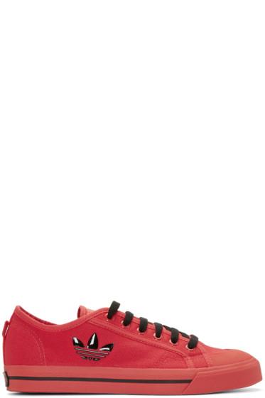 Raf Simons - Red adidas Edition Matrix Spirit Sneakers