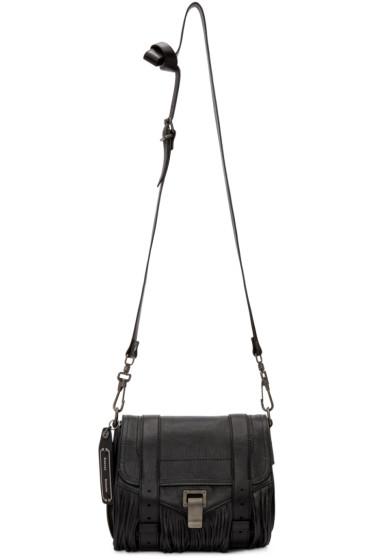 Proenza Schouler - Black Fringed PS1 Pouch Bag