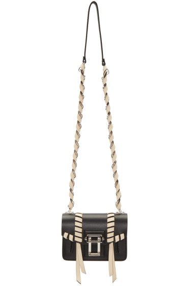 Proenza Schouler - Black & Ivory Whipstitched Hava Chain Bag