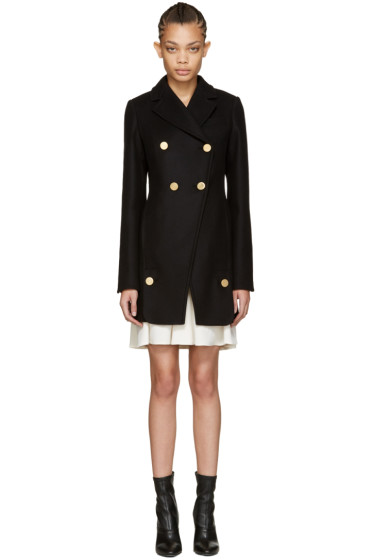 Proenza Schouler - Black Asymmetric Coat
