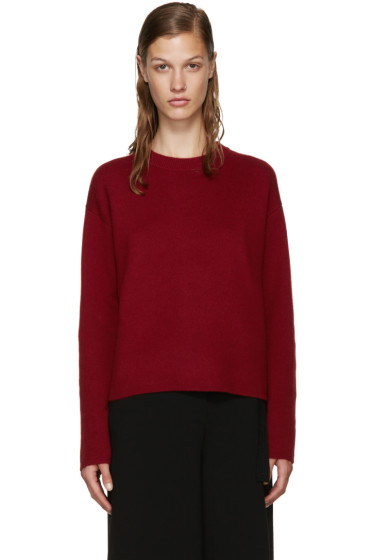 Proenza Schouler - Burgundy Open-Back Sweater