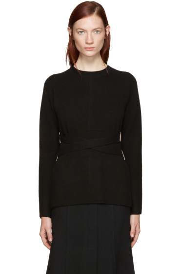 Proenza Schouler - Black Belted Sweater