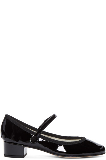 Repetto - Black Patent Leather Babies Heels