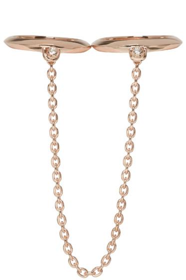Pamela Love - Rose Gold Double Suspension Ring