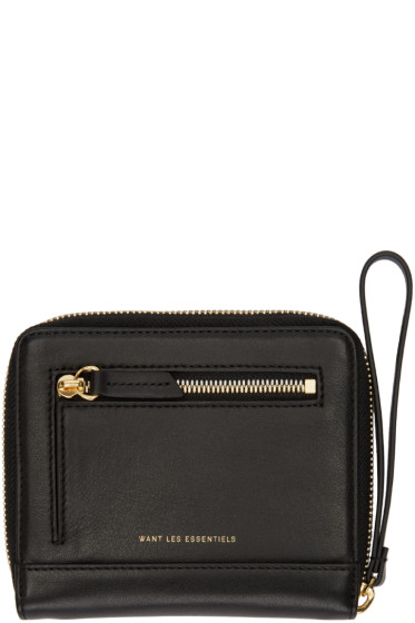 Want Les Essentiels - Black Portela Zip Wallet