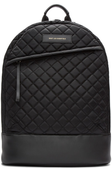 Want Les Essentiels - Black Quilted Kastrup Backpack