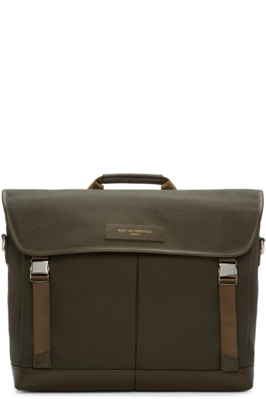 Want Les Essentiels - Green Canvas Jackson Messenger Bag