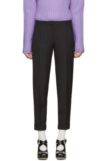 Carven - Black Slim Cuffed Trousers