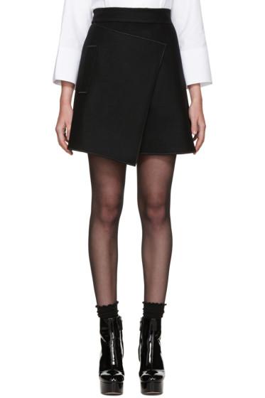 Carven - Black Wool Wrap Skirt