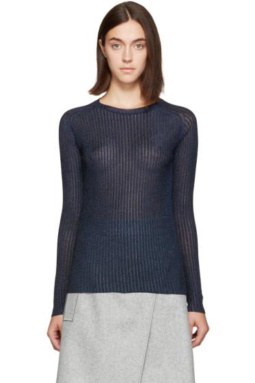 Carven - Navy Metallic Pullover