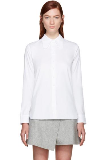 Carven - White Poplin Round Collar Shirt
