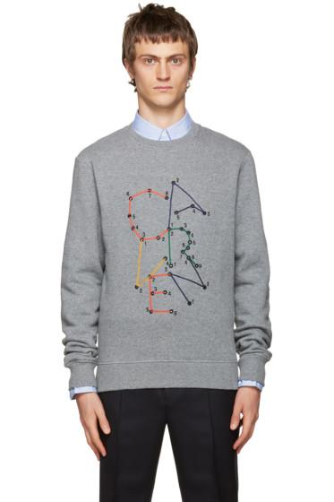 Carven - Grey Embroidered Logo Sweatshirt