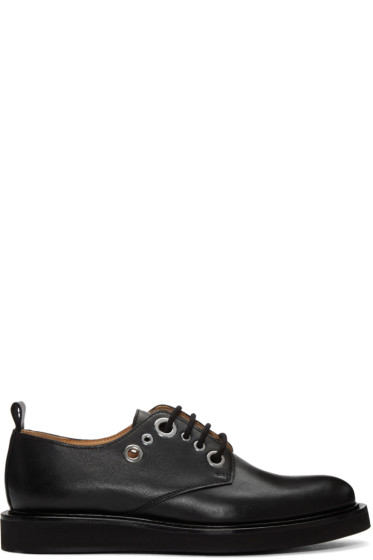 Carven - Black Eyelet Derbys