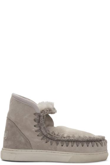 Mou - Taupe Mini Eskimo Boots