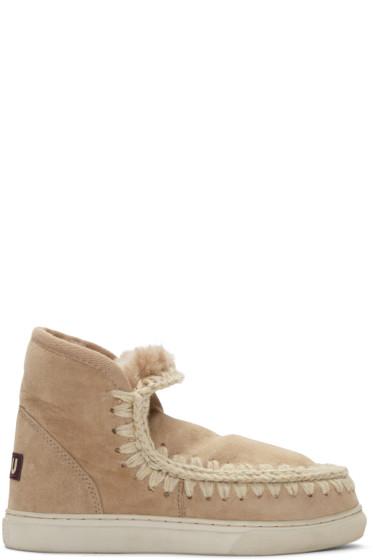 Mou - Tan Mini Eskimo Boots