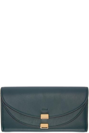 Chloé - Green Long Georgia Flap Wallet