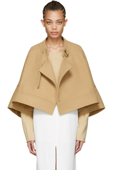 Chloé - Tan Wool Cape Jacket