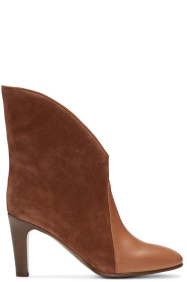 Chloé - Brown Suede Kole Boots