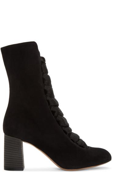 Chloé - Black Suede Harper Boots