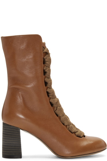Chloé - Tan Harper Boots