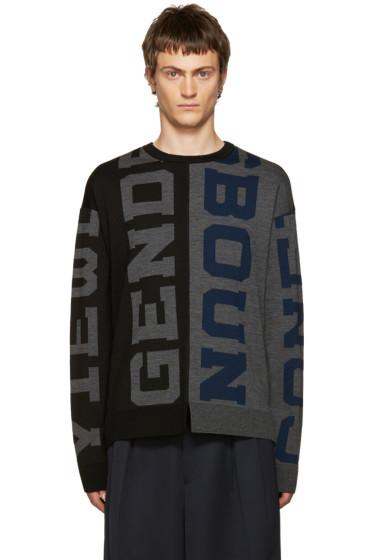 Juun.J - Black & Grey Genderless Sweater