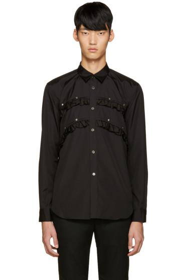 Comme des Garçons Homme Plus - Black Studded Ruffle Shirt