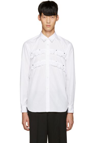 Comme des Garçons Homme Plus - White Studded Ruffle Shirt