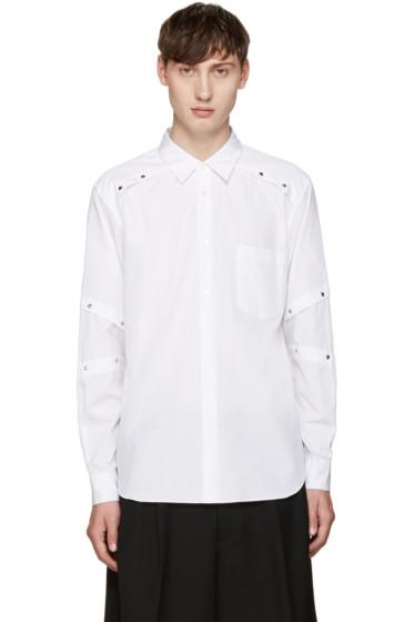 Comme des Garçons Homme Plus - White Poplin Rivet Shirt