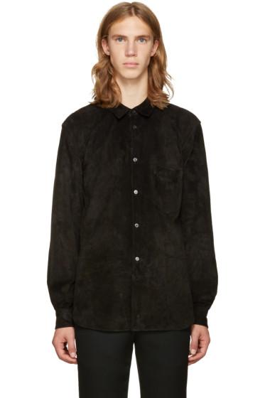 Comme des Garçons Homme Plus - Black Suede Shirt