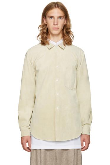 Comme des Garçons Homme Plus - Beige Suede Shirt