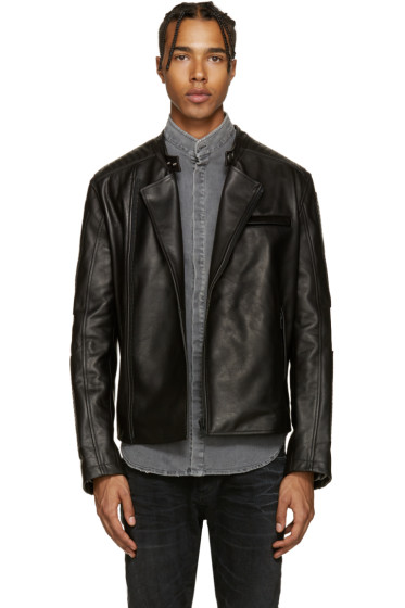 Pierre Balmain - Black Leather Biker Jacket