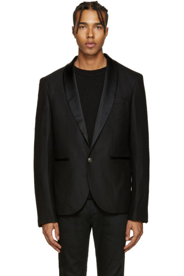Pierre Balmain - Black Single-Button Blazer