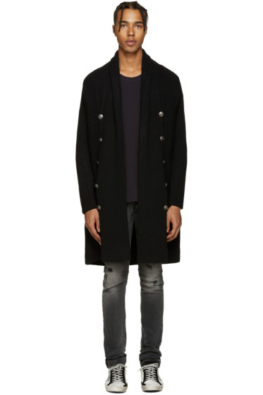 Pierre Balmain - Black Long Cardigan