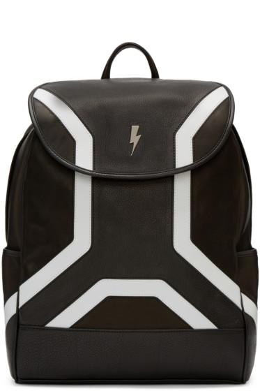 Neil Barrett - Black Leather Backpack