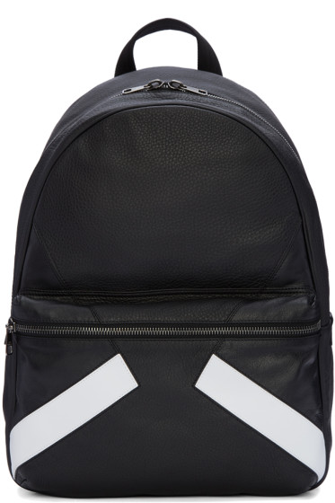 Neil Barrett - Black Retro Modernist Backpack
