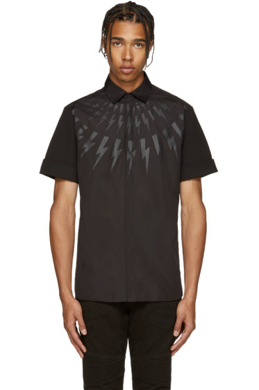 Neil Barrett - Black Thunderbolt Shirt