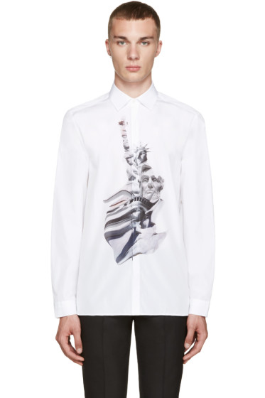 Neil Barrett - White Liberty Presidents Shirt