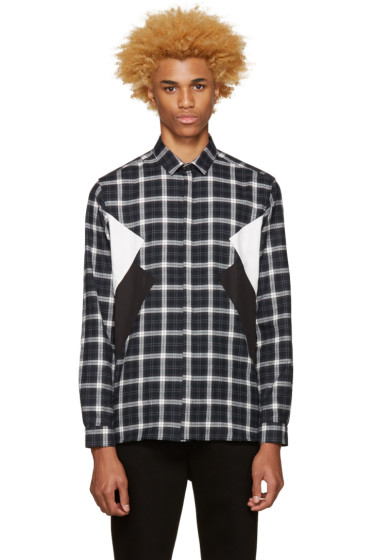 Neil Barrett - Grey Flannel Plaid Shirt