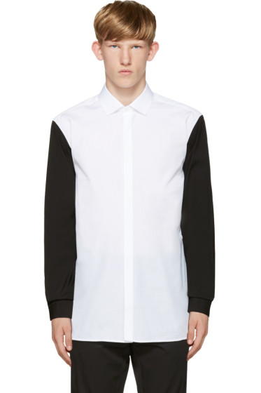 Neil Barrett - White & Black Contrast Sleeve Shirt
