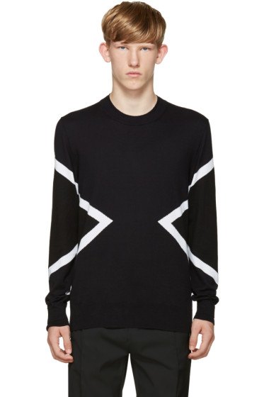 Neil Barrett - Blue & Black Modernist Sweater