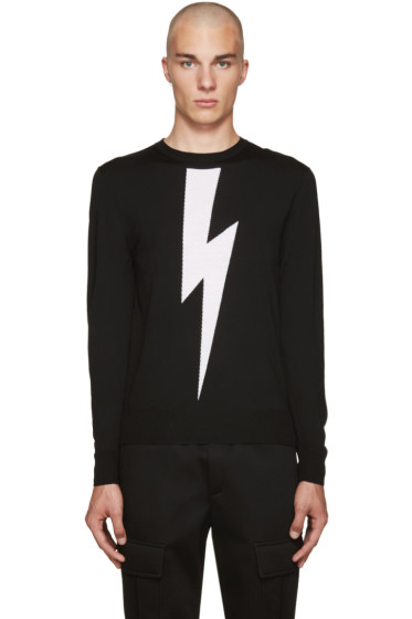 Neil Barrett - Black Thunderbolt Sweater