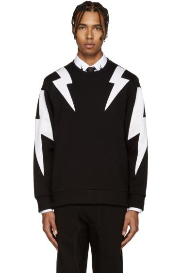 Neil Barrett - Black & White Thunderbolt Pullover