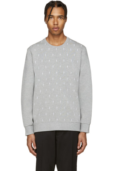Neil Barrett - Grey Lightning Pullover