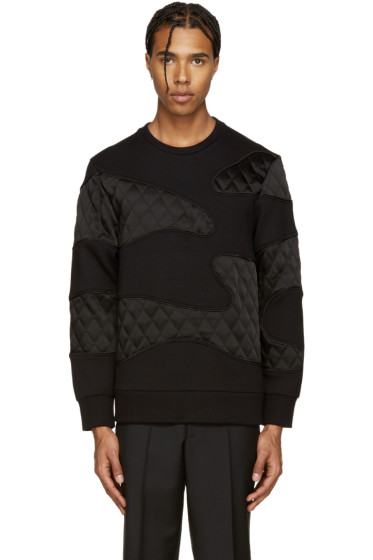 Neil Barrett - Black Quilted Camo Pullover