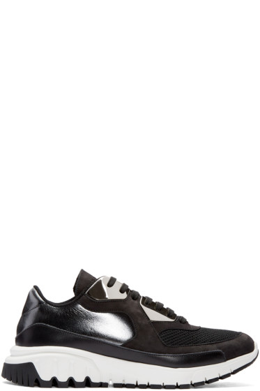 Neil Barrett - Black Leather Urban Sneakers