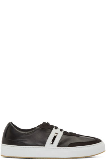 Neil Barrett - Black Retro Modernist Sneakers